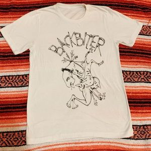 Backbiter Band Line Drawing Graphic Tee (S)